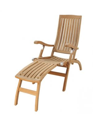 Anna deckchair met messing beslag